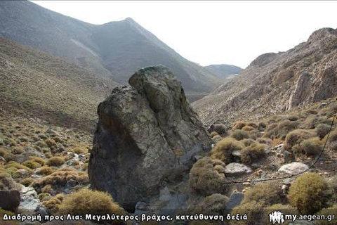 Μεγαλύτερος βράχος - κατεύθυνση ΔΕΞΙΑ