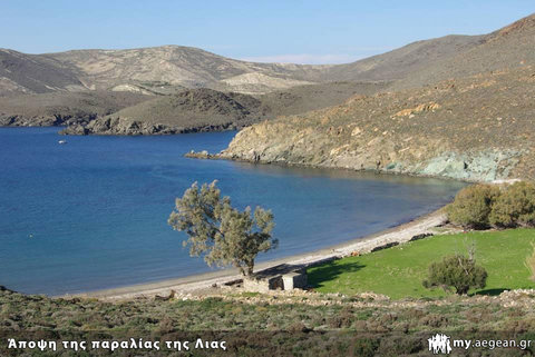 απόψεις της παραλίας της Λίας στη Σύρο