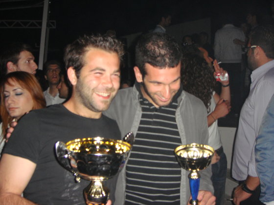 Football's and Volleyball's Captains Celebrating with the Cups! SAMOS KYPELLA!