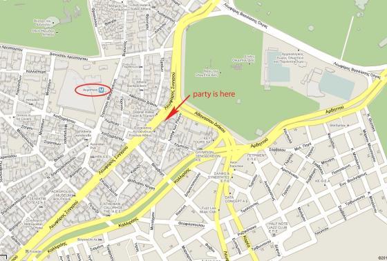 party DPSD protoxronia 2011 - venue map