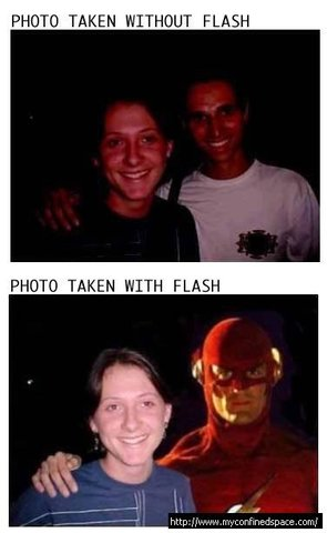 with flash / without Flash