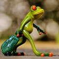 frog welcome travel luggage