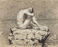 Loneliness - by Hans Thoma