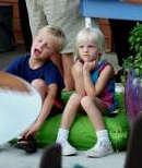 kids listening to music