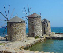 Chios island - old tannery Windmills