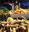 μαρίδες + τηγανητές πατάτες