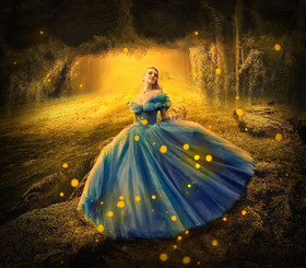 forest fairy dress artwork
