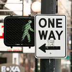 one way urban conformism abstract