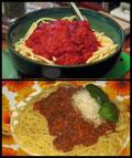 μακαρόνια με κιμά και σάλτσα