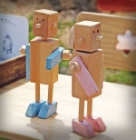 wooden couple